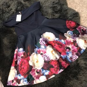 Ted Baker Nersi Blushing Bouquet Bardot dress 5 12